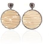 Diamond Slice and Irregular Diamond Earrings