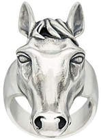 American West Sterling Silver Horse Design Ring