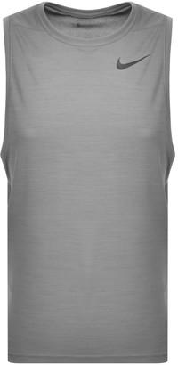 Nike NikeTraining Dri Fit Logo Vest T Shirt Grey
