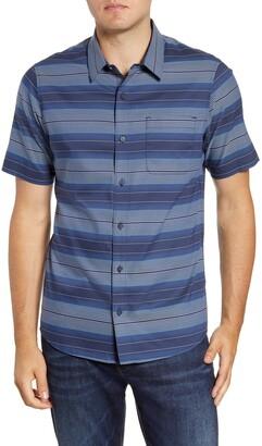 Travis Mathew TravisMathew Utica Regular Fit Short Sleeve Button-Up Sport Shirt