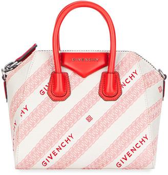 Givenchy Antigona Mini Chain Jacquard Satchel Bag