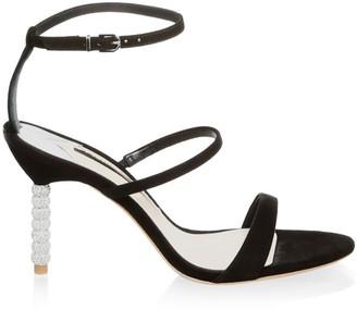Sophia Webster Rosalind Embellished-Heel Suede Sandals