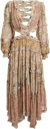 Zimmermann Freja Paisley Cut-Out Dress