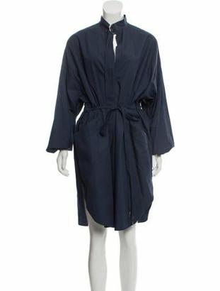 Cédric Charlier Knee-Length Shirt Dress w/ Tags Blue