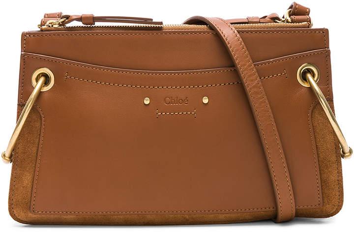 Chloé Mini Roy Calfskin & Suede Shoulder Bag