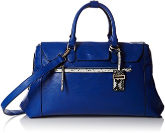 SWANKYSWANS Womens Hudson Snakeskin Trim Shoulder Bag Royal Blue