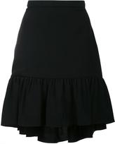 Saint Laurent Pleated Trim Flare Skirt