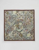 Asos Silk Pocket Square In Paisley