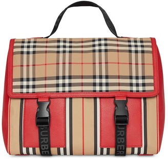 Burberry Vintage Check and Icon Stripe Nylon Backpack