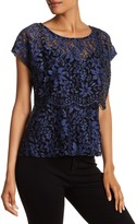 Plenty by Tracy Reese Lace Overlay Blouse