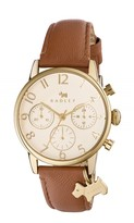 Electric Avenue Oversized Number Indus Tan Strap Chrono Charm
