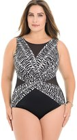 Soma Intimates Plus Size Between the Pleats Palma One Piece Swimsuit