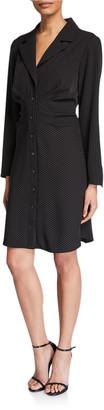 Finley Cleo Gathered Pinstripe Shirtdress