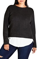 City Chic Plus Size Women's Promise Me Sweater
