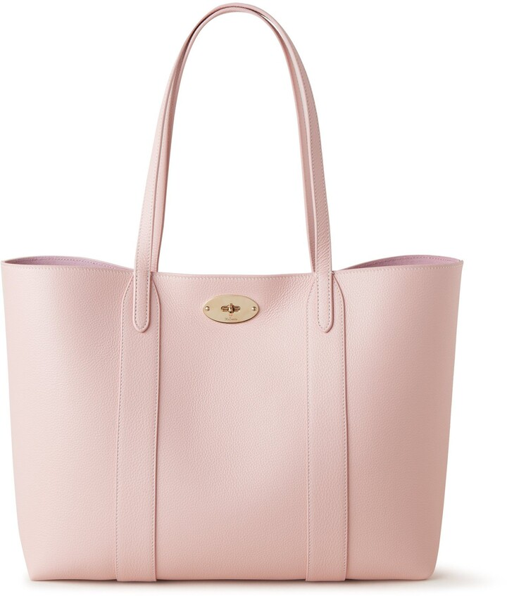 Mulberry Bayswater Tote Icy Pink Small Classic Grain