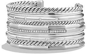 David Yurman Stax Wide Cuff Bracelet with Diamonds
