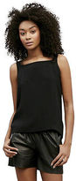 Kenneth Cole Buckle Strap Silk Tank Top