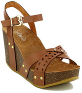 Refresh Mara Laser-Cut Wedge Sandal