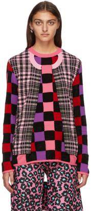 Comme des Garçons Homme Plus Multicolor Mix Print Sweater