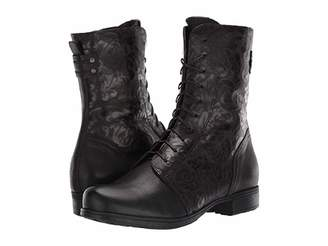 Think! Denk Lace-Up Boot - 85024 (Black) Women's Boots