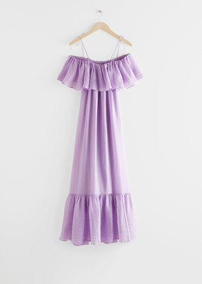 And other stories Frill Maxi Dress