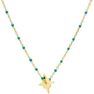 "Argentovivo North Star Enamel-Detail Necklace, 14"""