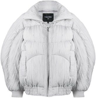 CHEN PENG Pleated Oversized Down Jacket