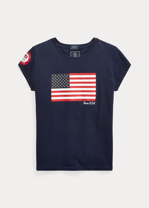 Ralph Lauren Team USA One-Year-Out Cotton Flag Tee