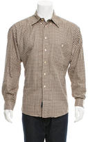 Burberry Plaid Button-Up Shirt