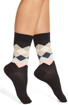 Happy Socks Women's 'Faded Diamond' Crew Socks