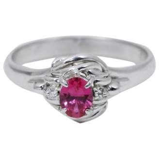 Rubis Non Signé / Unsigned Non Signe / Unsigned Red Platinum Rings