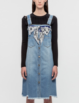 Sjyp Button Front Denim Dress