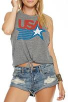 Chaser USA Tie Front Tank