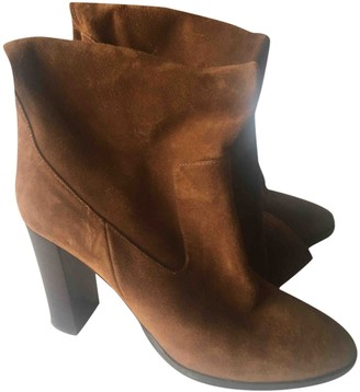 Jimmy Choo Brown Suede Ankle boots