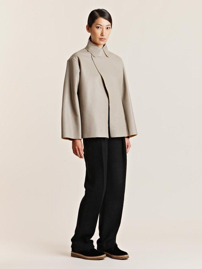 mento Women's Oversized Leather Jacket