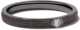 De Beers Black rhodium plated 18kt gold Azulea diamond band