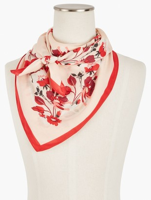 Talbots Square Breezy Floral Scarf