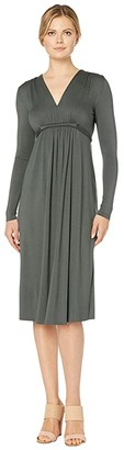 Rachel Pally Jersey Long Sleeve Mid-Length Caftan (Juniper) Women's Dress