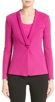 Armani Collezioni Women's Ottoman Jersey One Button Jacket