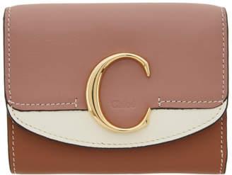 Chloé Pink and Tan C Wallet