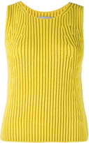 Vince ribbed-knit top