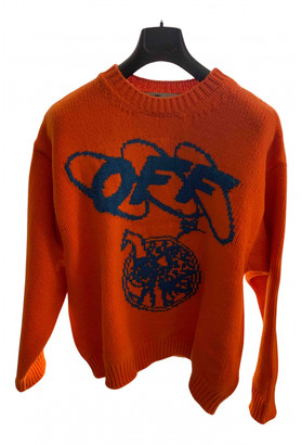 Off-White Orange Wool Knitwear & Sweatshirts