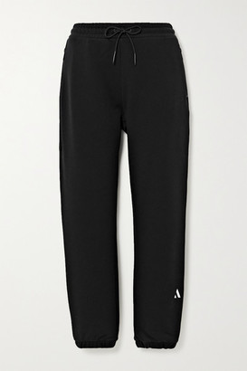 AARMY Embroidered Cotton-jersey Track Pants - Black