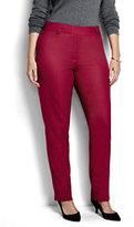 Classic Women's Plus Size Mid Rise Slim Leg Pants-Deep Scarlet