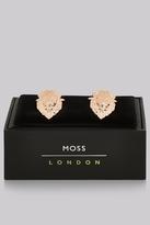 Moss Bros Rose Gold Lion Cufflinks
