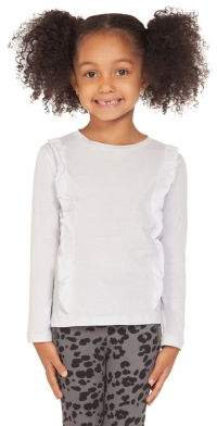 Dex Little Girl's Ruffle-Trimmed Cotton Top