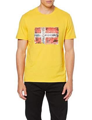 Napapijri Men's Seitem T-Shirt, (Freesia Yellow Ya7)