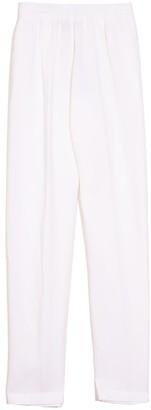 Forte Forte Viscose Linen Piquet Elasticated Pants in Bianco