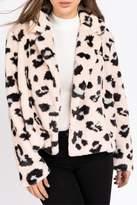 Le Lis Blushing Leopard Fur Coat
