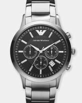 Emporio Armani Silver-Tone Chronograph Watch
